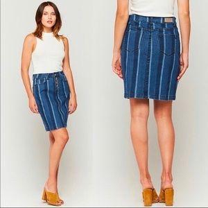 Maeve by Anthro   Striped Denim Skirt   Size 0